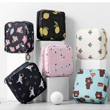 Girls Diaper Sanitary Napkin Storage Bag Canvas Sanitary Pads Package Bags Coin Purse Jewelry Organizer Credit Case 2017 new casual candy color bags for girl cotton diaper sanitary napkin package bag storage organizer makeus bag free shipping