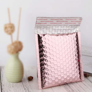 Multi-Size Rose Gold Aluminum Foil Shipping Mailing Bags Waterproof Express Bubble Bags