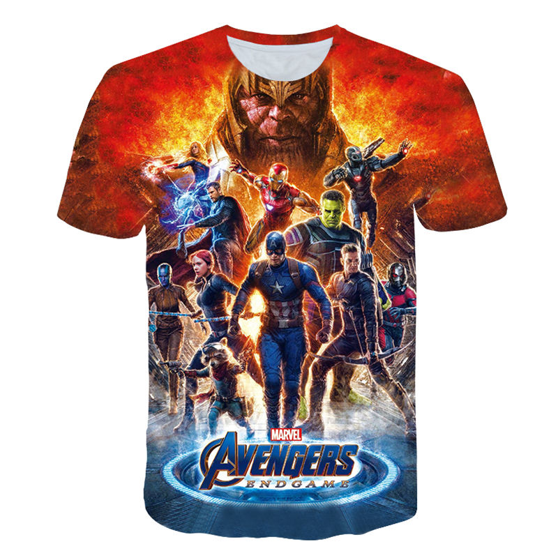 Hot 2019 3D Avengers 4 Endgame Cosplay Captain Marvel Men Women Gym T-shirts