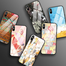 Colorful Phone Case for iPhone 11 XR X XS MAX Shockproof Tempered Glass Case For iPhone 7 8 PLUS 6 6S PLUS 5 5S SE Slim Cover tempered glass case for iphone xr x xs max 11 pro max flower shockproof case for iphone 6 6s 7 8 plus 5 5s se color back cover