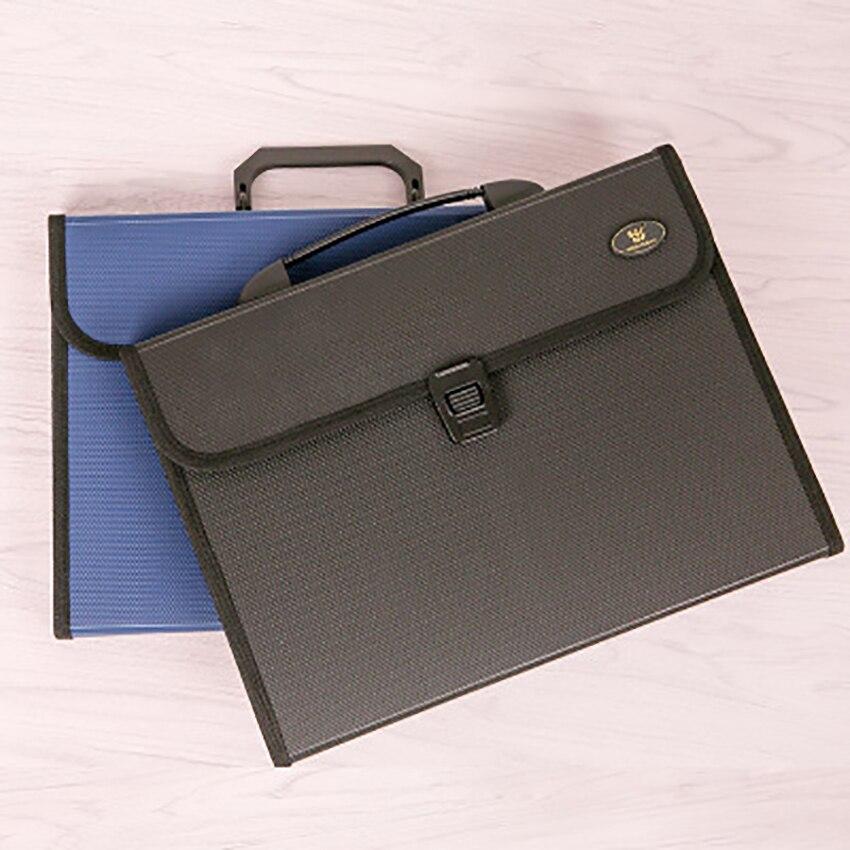12-layer Expanding Wallet A4 Paper Holder Bag File Folder Stationery Business Handbag Document Storage Organizer Office Supplies