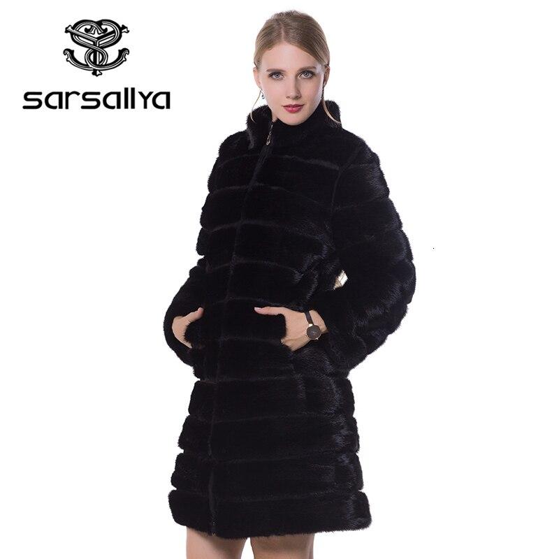 SARSALLYA femmes réel manteau de fourrure nouveaux manteaux de vison manteaux de fourrure naturelle femmes vestes d'hiver manteau de fourrure de renard gilet de fourrure de renard