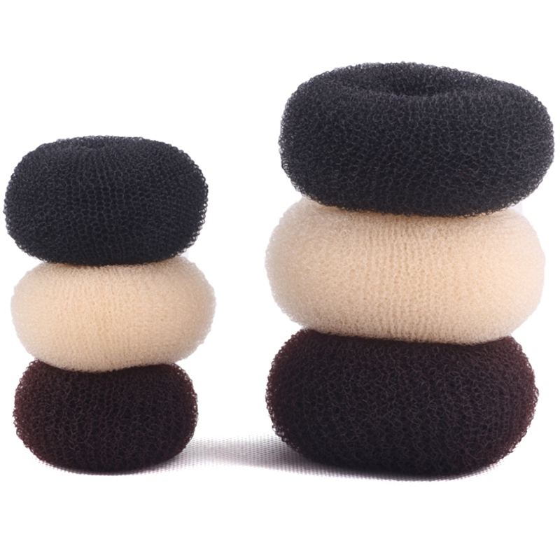 3 Colors 4 Sizes Korean Style Bud Head Ball Head Disk Donuts Dish Hair Hairdressing Tools Black Beige Coffe Hair Accessories
