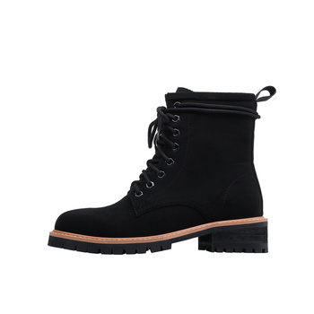 Genuine 100% leather Women Martin Boot Fashion Winter Warm Shoes Female Motorcycle Ankle Snow Boots For Woman Botas