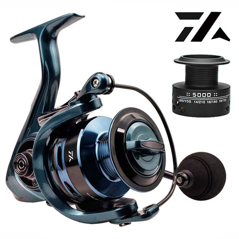 High Quality 14+1BB Double Spool  Fishing Reel 5.5:1 4.7:1 Gear Ratio High Speed Spinning Reel Casting reel Carp For Saltwater 6
