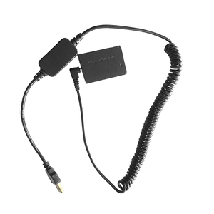Image 2 - D tap Spring Power Coiled Cable LP E12 Replacement Dummy Battery Adapter DR E12 DC Coupler Compatible with Canon M M2 M10