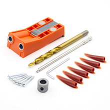 Plastic Dowel Jig Drill Bit Kit Drilling System Pocket Hole inclined hole drill tools