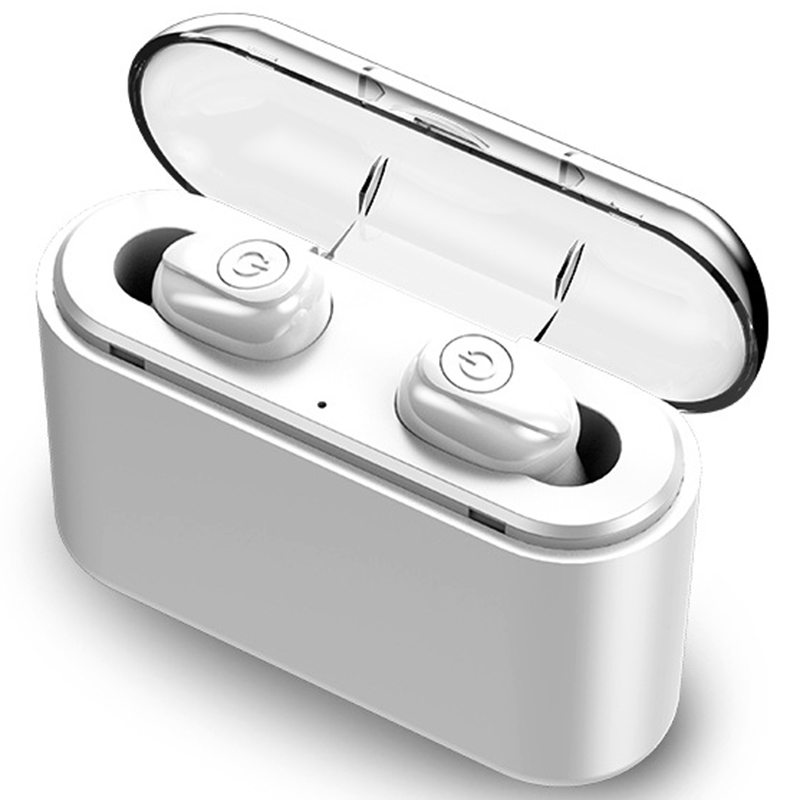 <font><b>X8</b></font> <font><b>TWS</b></font> True Bluetooth Earphone <font><b>5D</b></font> Stereo Wireless Earbuds Mini <font><b>TWS</b></font> Waterproof Headfrees with Charging Box 3500MAh Power Bank image