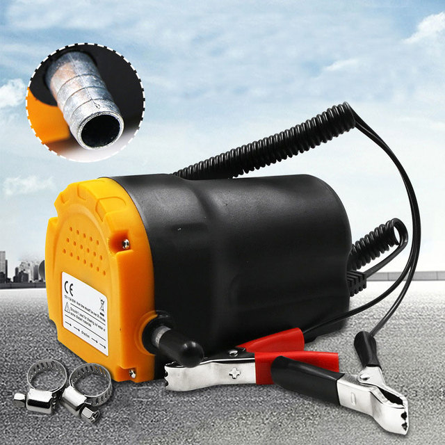 12V 60W Oil/crude oil Fluid Sump Extractor Scavenge Exchange Transfer Pump Suction Transfer Pump + Tubes for Auto Car Boat Mot 2