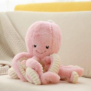 1pc 18-80cm kawaii polvo brinquedos de pelúcia macio animal polvo travesseiro brinquedo de pelúcia bonecas crianças meninos e meninas presentes de aniversário decoração