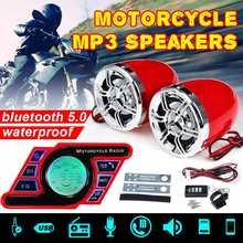 Motorcycle bluetooth 5.0 Audio Waterproof Anti-theft Alarm System Stereo Sound Speaker FM Radio MP3 Player Music Amplifier(China)