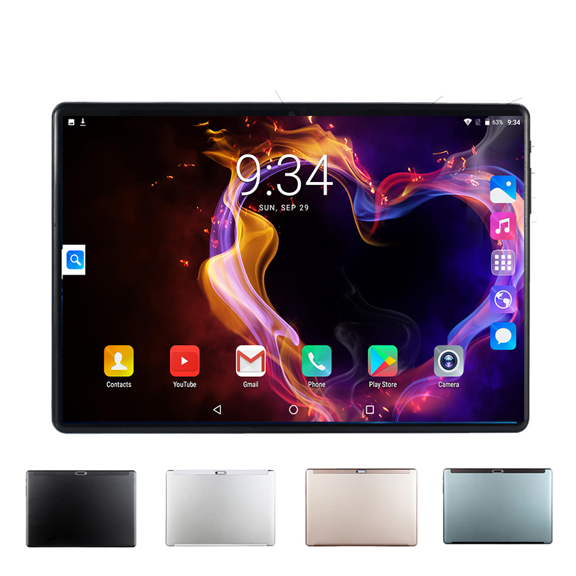 Tempered Glass Screen   10.1 Inch Tablet Android 9.0 Octa Core SIM 3G 4G LTE WIFI GPS IPS RAM 6G 128GB Phone Tablets