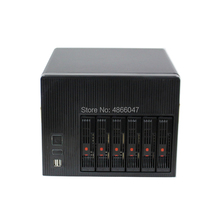 2020 Nieuwe Diy Home Storage Hot-Swap Nas Server Chassis Ipfs 6HDD Bays 6Gb Sata Ondersteuning Mini-itx Moederbord 250W 300W Psu