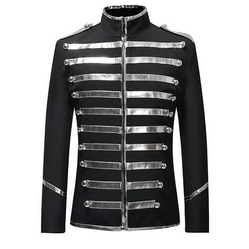British Style Vinatge Blazers Mens Luxury Gold Retro Suit Jackrt For Party DJ Singers Stage Costume Slim Fit Suit Coats