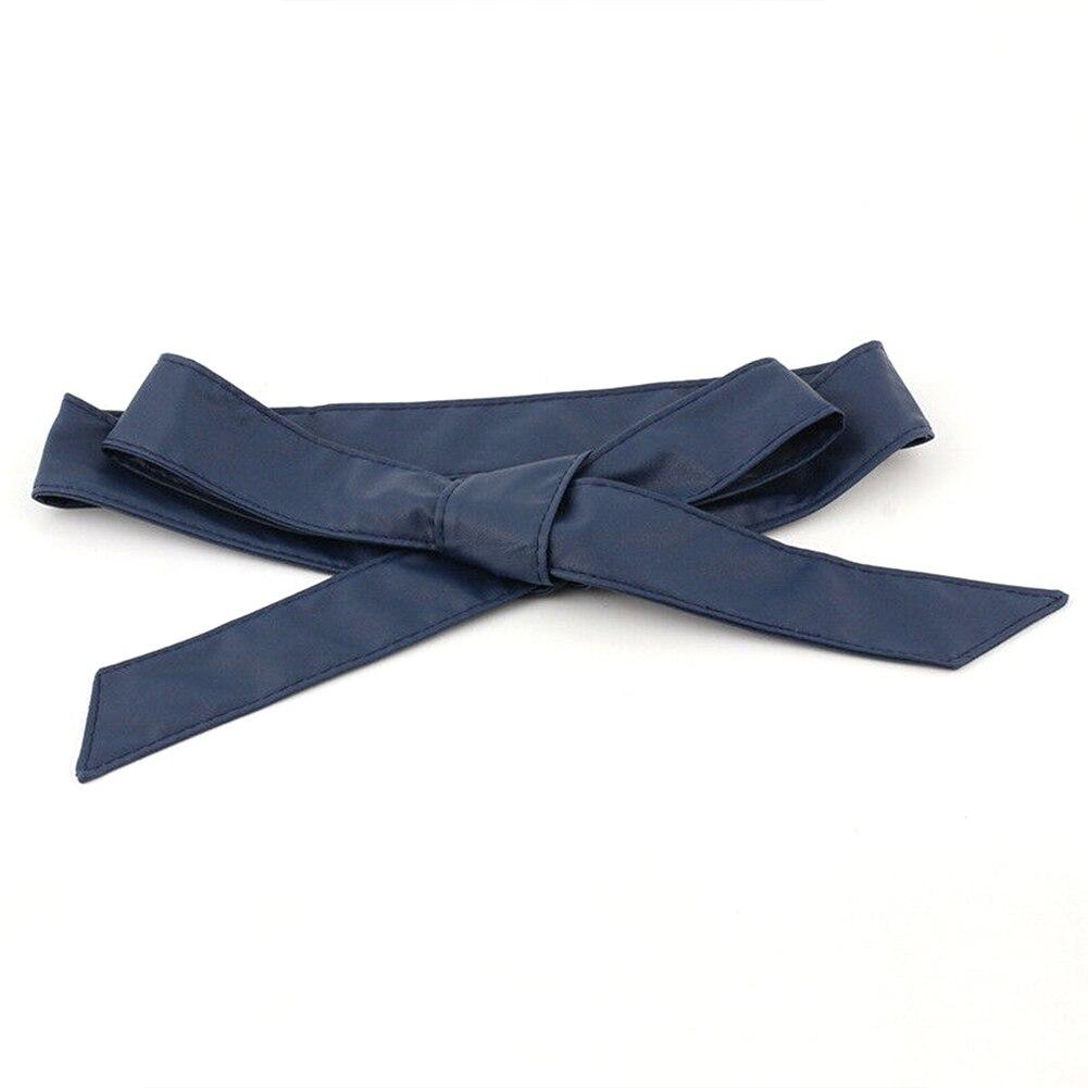 Soft Ribbon Waistband Ladies Dress Decor Self Tie Corset Wrap Around Women Waist Belt Fashion Wide Bowknot Silk Casual