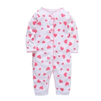 Honeyzone bawełna Pijama Bebe Recien Nacido Baby Sleeper uroczy nadruk śliczne dziecięce piżamy noworodka Spiochy Dla Niemowlat Roupas Bebe tanie i dobre opinie W wieku 0-6m 7-12m dla dziewczynek COTTON CN (pochodzenie) Wiosna i jesień guzik Drukuj PY1238 okrągły dekolt Śpioszki