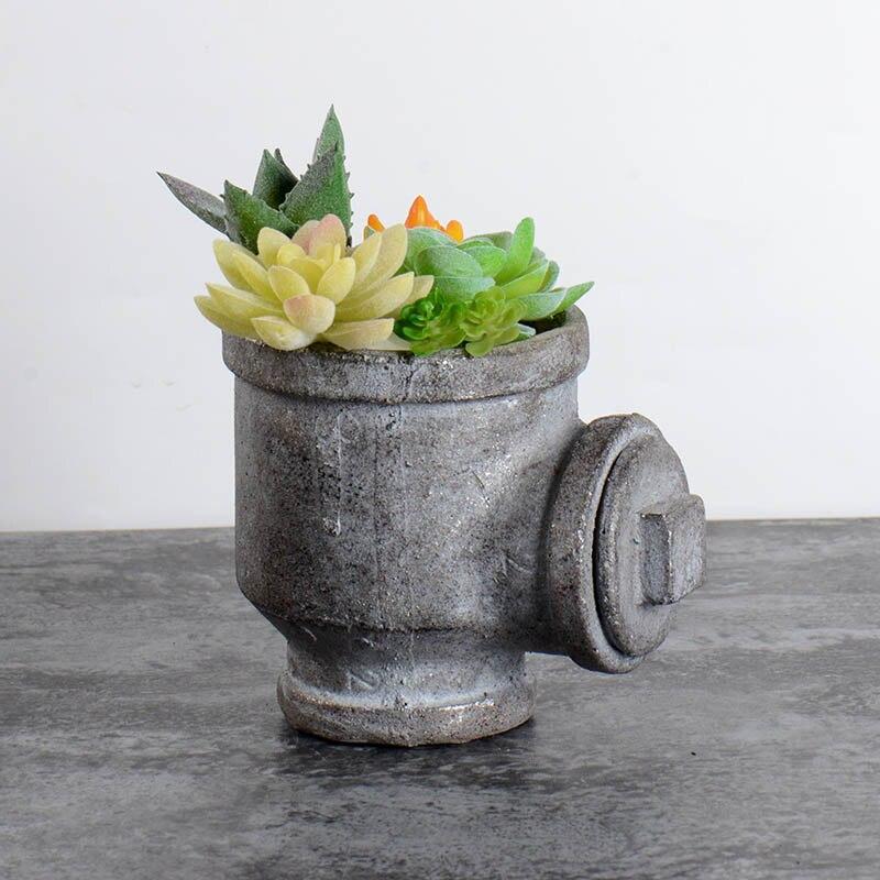 Силиконовые бетонные формы для цветочного горшка водопровод форма кашпо из цемента формы садовые бонсай украшения инструменты