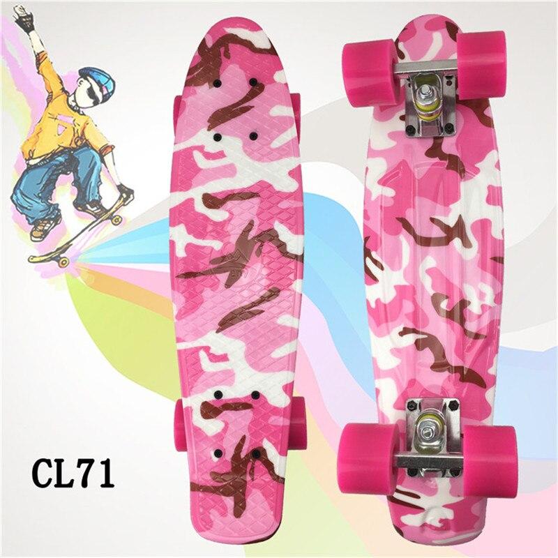 PANY Mini Skate Board For Kids 22 Inch Penny Board Graphic Retro Board Child Skateboard Cruiser
