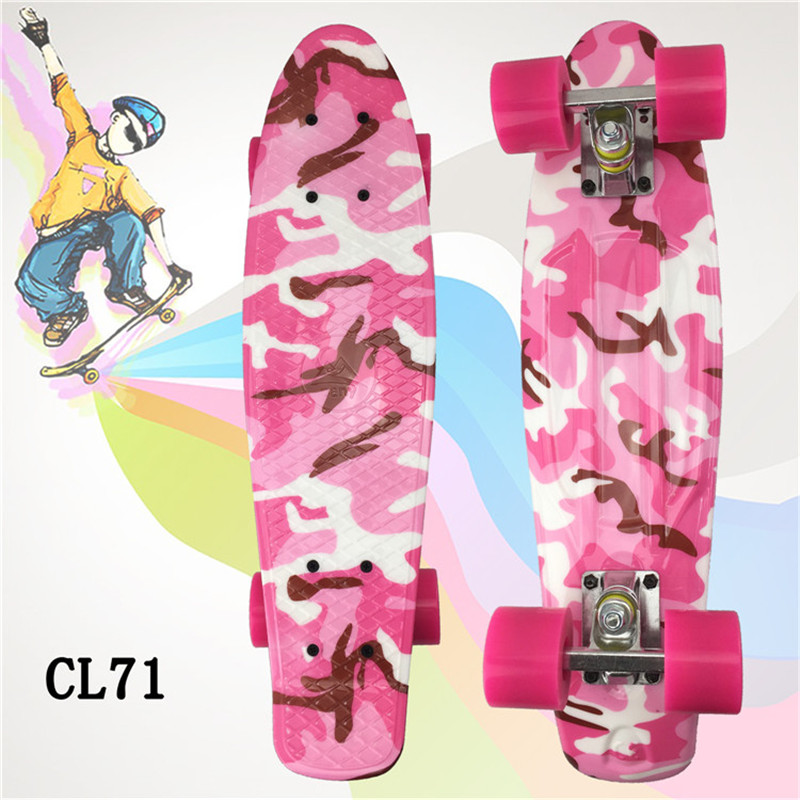 PANY Mini Skate Board For Kids 22 inch Penny Board Graphic Retro Board Child Skateboard Cruiser