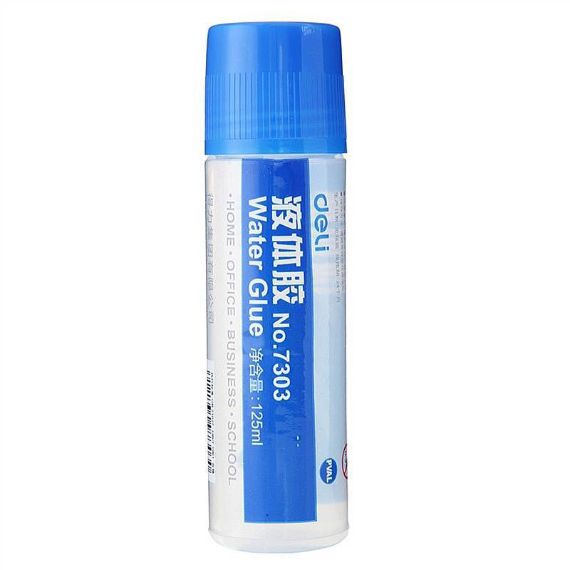Deli 7303 Liquid Glue Transparent 125 Ml Universal Students Handmade Glue Adhesive Glue Office Supplies Stationery