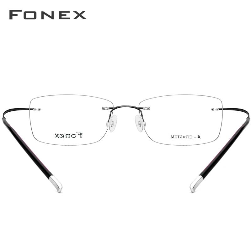 B titane sans monture sans cadre lunettes de Prescription hommes femmes ultra-léger lunettes myopie cadre optique sans vis lunettes 9203 - 5