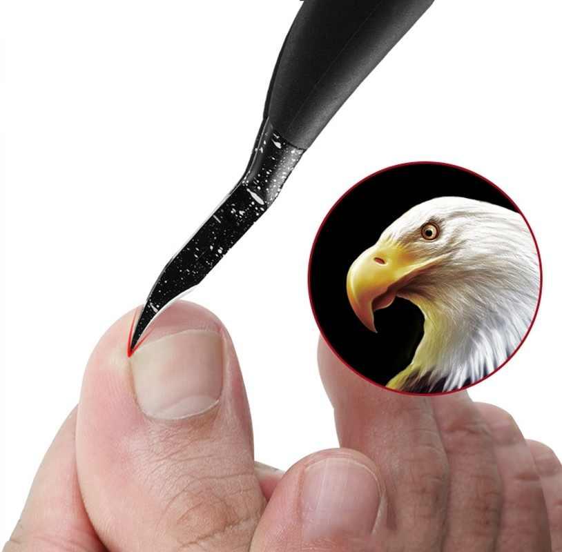 1PCs שחור ציפורן חודרנית ציפורן אמנות לציפורן ניפר קליפר Edge קאטר מניקור מספריים Plier כלי פדיקור מסיר עור מת
