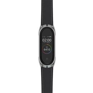 Image 4 - Mi Band 5 браслет из натуральной кожи NFC глобальная версия для Xiaomi Mi Band 4 ремешок Mi Band 3 ремешок TF умные аксессуары ремешок для часов