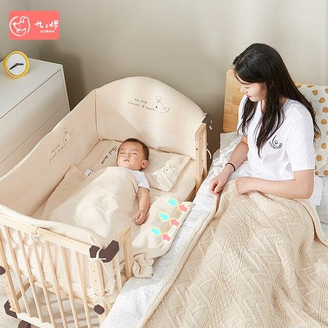 Solid Wood Baby Crib  3