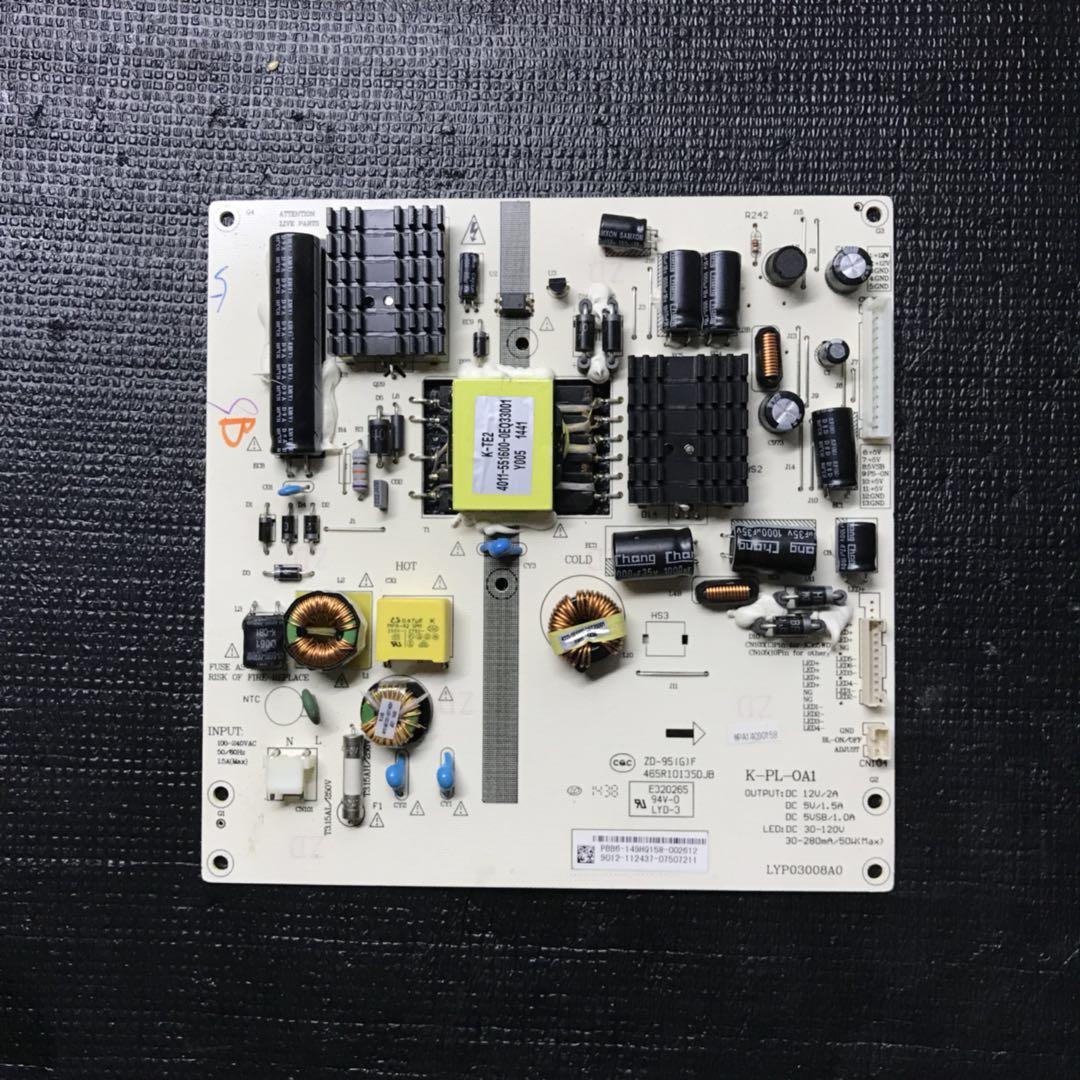 Original Power Supply Board LED4253 LYP03008A0 465R1013SDJB K-PL-0A1 Used Board