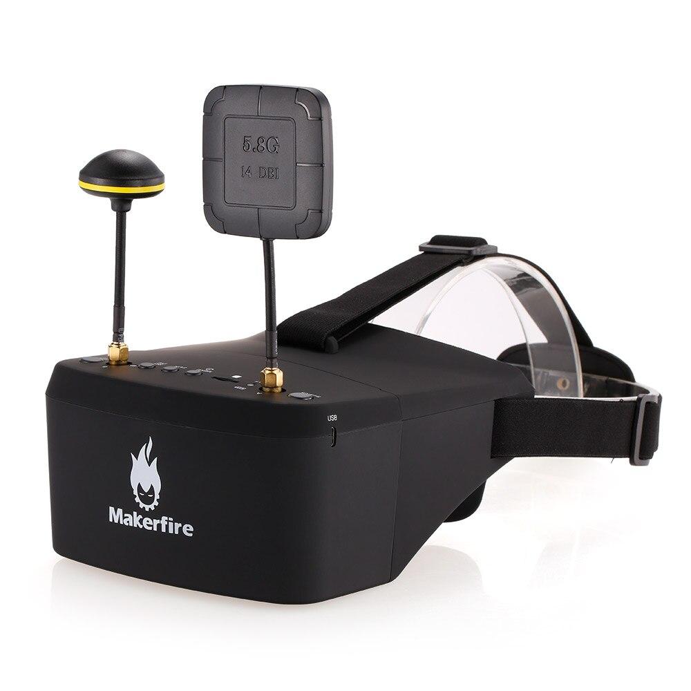 Makerfire EV800D 5.8G 40CH Double antenne FPV lunettes avec DVR pour QAV 250 220 210 course quadrirotor