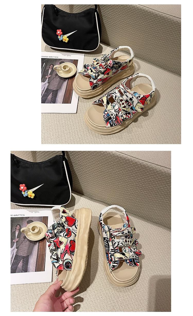 velcro sandálias mulher adulto verão nova moda sandálias femininas