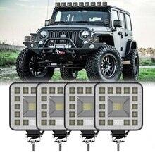 1PCS/2PCS/4PCS LED Square Car Work Light 12V/24V 23LED 6500k 69W Off Road Spotlight Modified Lamp For Car Truck SUV