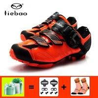 Tiebao men mountain bike sapatos de ciclismo mtb auto-bloqueio sapatos de corrida atlético mtb ciclismo tênis