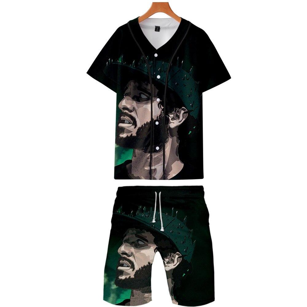 2019 New Style Hot Sales Lil Dicky Rap Singer Digital Printing Thin Baseball Uniform Set