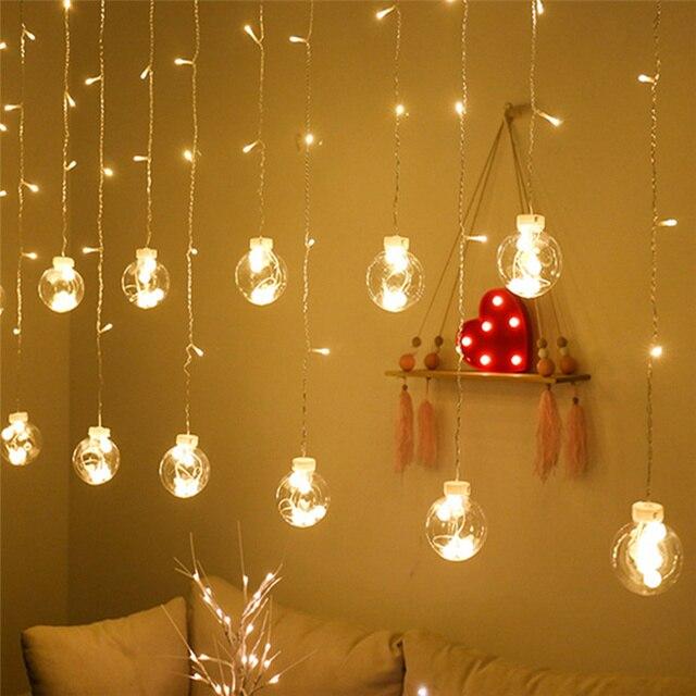 Curtain fairy string light led chr