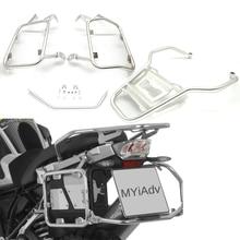 """עבור BMW R1200GS R 1200 GS R1250GS/עו""""ד LC 2013 2019 אופנוע סלים Rack נירוסטה תרמיל סוגר למעלה מקרה תיבת מדף"""