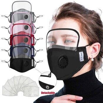 Προστατευτική βαμβακερή μάσκα με ενσωματωμένα γυαλιά