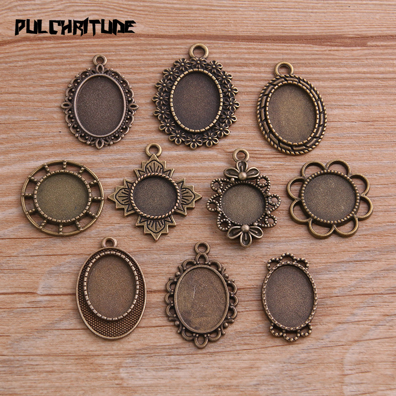 Metal Alloy Round Cabochon Settings Antique Silver 16mm  30 Pcs Findings Crafts