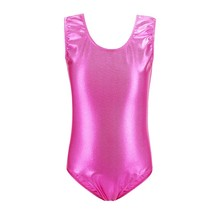 Sweet Gymnastics Children Dance Clothes Leotard Girls Kids Ballet Underwear Vest Shiny Class Performance Clothing