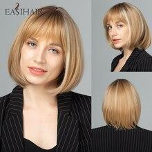 Wigs Hightlight Futura-Hair Easihair-Blonde Cosplay Heat-Resistant Natural Ombre Women