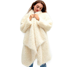 2019 Polyester New Mujer Sobretudo Winter Coat Europe And The Autumn Hot Explosions Fashion Cardigan Jacket Double-faced Plush