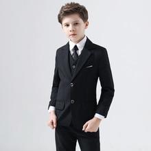 Children's Suit Handsome Boy Small Suit Suit Flower Girl Dress Boy Piano Little Host Performance Costume Spring Boys' Attire