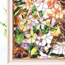 Витражная декоративная оконная пленка защитная виниловая наклейка