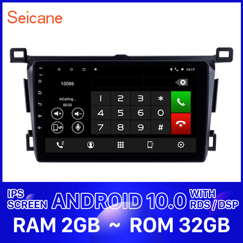 Seicane Car Stereo GPS Radio Player 9 inch Android 10.0 for Toyota RAV4 left hand driver 2013-2016 2017 2018 Support Rear Camera image