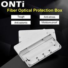 ONTi 10Pcs Cavo in fibra Ottica Box di Protezione In Fibra Ottica Box di Protezione di Calore Tubo Termoretraibile per Proteggere Fiber Splice Tray 2 in 2 out