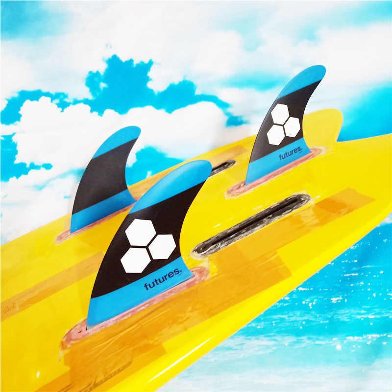 Futuro multi-tamanho 3-fin techflex grandes barbatanas de prancha tri fin conjunto de surf longboard acessórios de fibra de carbono fin liquidação