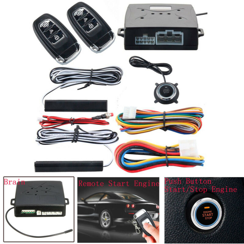 PKE Passive Keyless Entry Push Button Remote Engine Start/Stop Alarm System Kit Brand New And High Quality