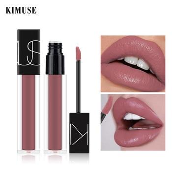 цена на KIMUSE Liquid Lipstick Lip Gloss Matte Nude Lipstick Long-lasting Waterproof Nutritious Liquid Lip Tint Lip Glaze Lips Makeup