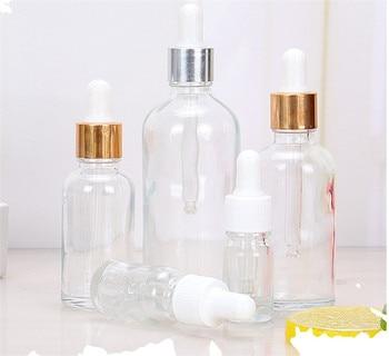 5ml 10ml 15ml 30ml 50ml Clear Glass Dropper Bottle with glass eye dropper pipettes for essential oils argan eliquid  bottles lorann vanilla butternut dram with dropper