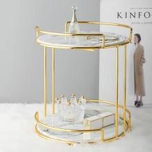 Nordic Cake Fruit Tray Double-deck Cosmetics Storage Tray Creative Makeup Organizer Desktop Finishing Display Rack Jewelry Tray
